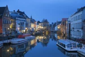 Landscape of a Belgian city