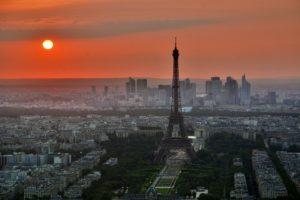Paris city landscape with the Eiffel Tower