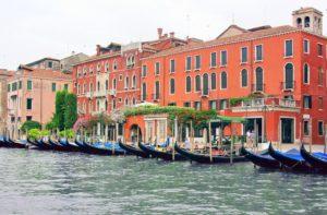 "Venetian ""Gondolas"" floating in Venice waters"