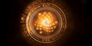 IOTA Coin with black background