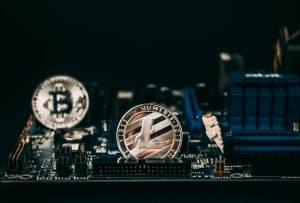 Litecoin and Bitcoin coins