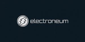 Electroneum logo with dark background