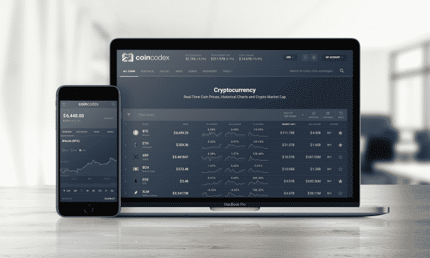 CoinCodex Launches Website Re-design – Welcome to CoinCodex 2.0