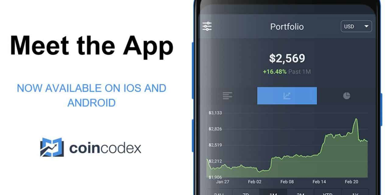 CoinCodex Launches Mobile App