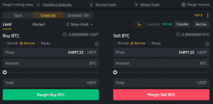How to margin trade on Binance order placement screen