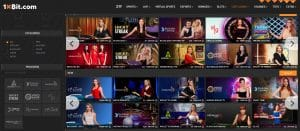 live casino 1xBit casino